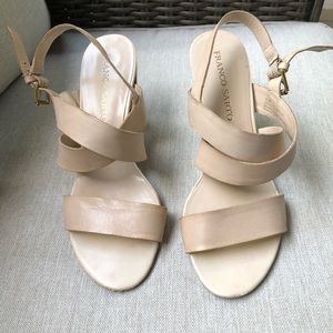 FRANCO SARTO size 8 leather sandals
